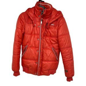 G-Star Raw red puffer jacket small